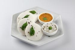 Idly with sambar, IDLY SAMBAR ,South indian breakfast