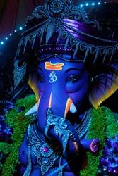 Idol Ganesh Photography Festival In India Decoration Beautiful Big Ganpati Idol