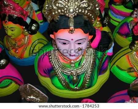 Idols of Goddess Gowri, the mother of internationally known elephant-headed Hindu God