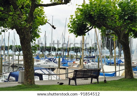 Idyll at the port of Uhldingen at lake constance