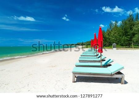 Idyllic beach of Andaman Sea in Thailand