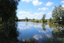 Idyllic lake near Abensberg in Bavaria