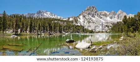 Idyllic Mountain Lake in the High Sierra, California, USA