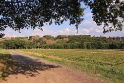 Idyllic natural landscape in the Sauerland