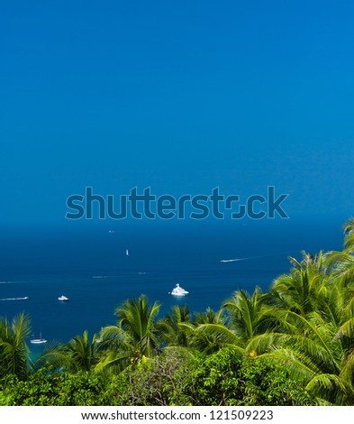 Idyllic Panorama Exotic Backdrop