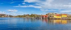 Idyllic panorama landscape from Swedish west sea coast