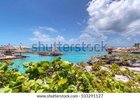 Idyllic scenery of Caribbean sea of Mexico