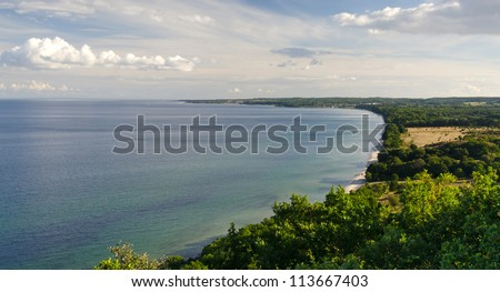 Idyllic sea panorama landscape in summer season
