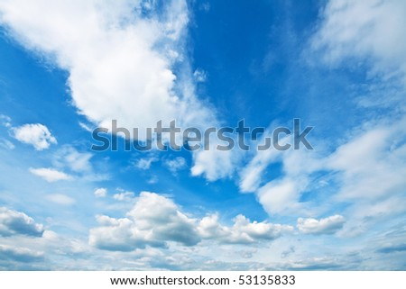 Idyllic sky in spring #53135833