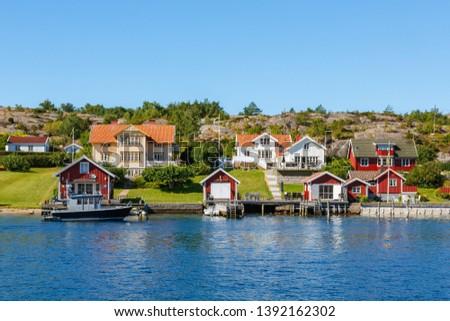 Idyllic summer houses on the Swedish west coast #1392162302