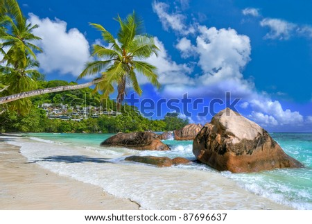 idyllic tropical scenery - beautiful Seychelles