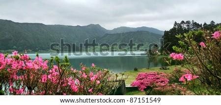 idyllic waterside scenery at Sao Miguel Island