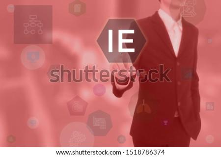 IE - business concept presented by businessman Imagine de stoc ©