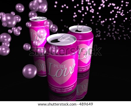 If love could be packaged and sold, then maybe this is how it would look. A 3D generated image of some canned love.
