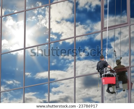 If you wash the windows regularly, they will reflect the blue sky