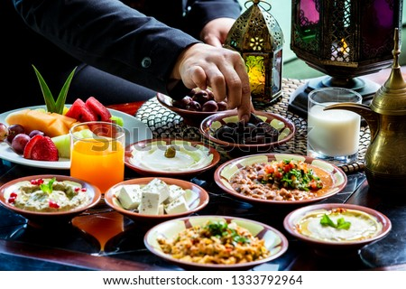 Iftar or Suhoor served in Ramadan