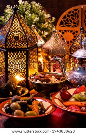 Iftar served during the Holy month of Ramadan