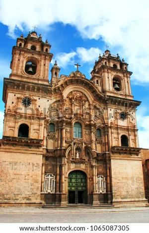 Shutterstock Iglesia de la Compania de Jesus on Plaza de Armas in Cusco, Peru. In 1983 Cusco was declared a World Heritage Site by UNESCO