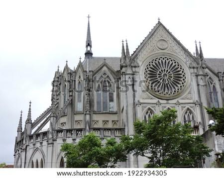 Iglesia de Las Carmelitas, Gothic church located in the Prado neighborhood of Montevideo, Uruguay. Foto stock ©