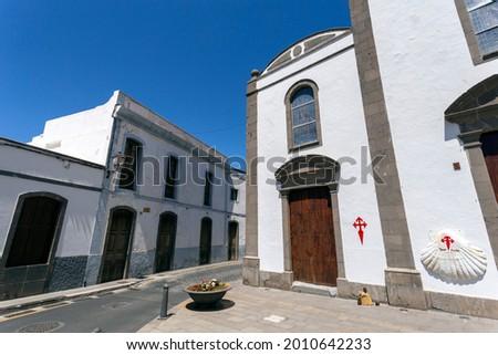 Iglesia San Bartolome church in Tunte, Gran Canaria (Spain) on a summer afternoon. Foto stock ©