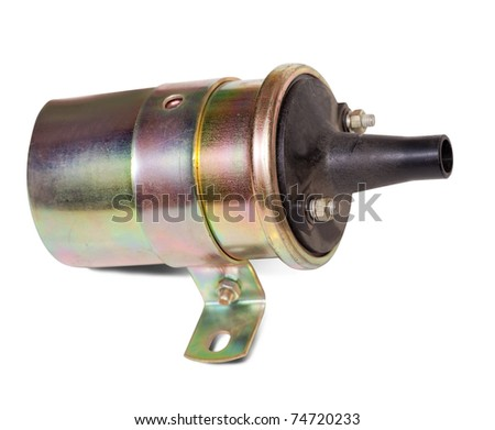 igniter coil. Isolated on white background  with clipping path