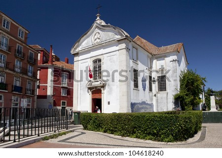 Igreja de Santa Luzia in Lisbon, Portugal. The church is classified as National Monument.