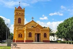 Igreja Matriz Nossa Senhora do Carmo, tourist spot in the city of Boa Vista in Roraima, located in the city center.