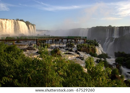 Iguassu Falls is one of the top tourist destinations in South America. It is such a natural wonder that UNESCO designated the falls as a World Heritage Area in 1986.