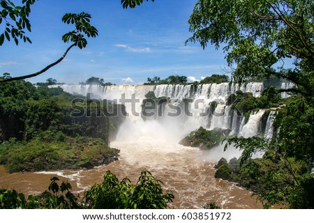 Shutterstock Iguazu Falls are waterfalls of the Iguazu River on the border between Brazil and Argentina