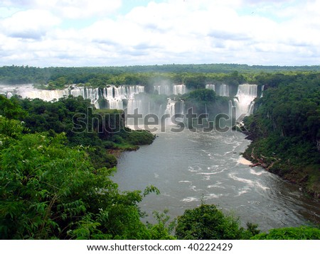 Iguazu falls from the top