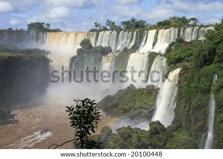 Iguazu Falls In Misiones Province, Argentina Stock Photo 20100448 ...