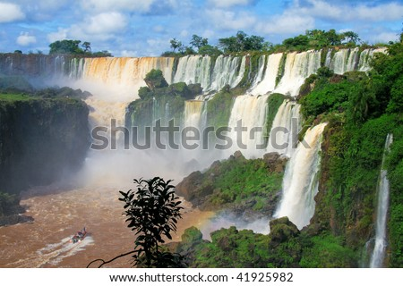 Iguazu Falls In Misiones Province, Argentina Stock Photo 41925982 ...