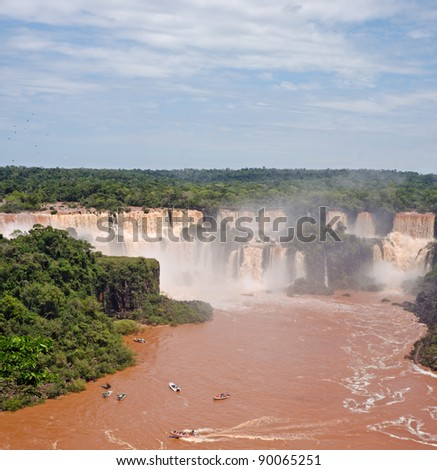 Iguazu Falls, UNESCO World Heritage Sites, and a New 7 Wonders of the world. View from the Brazilian side