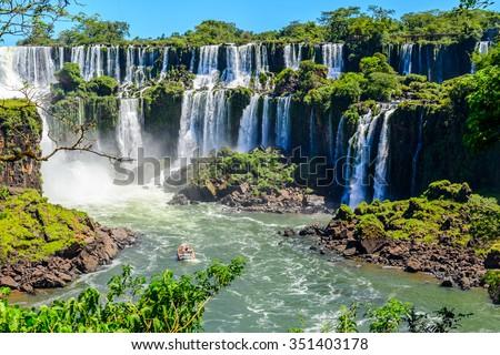 Shutterstock Iguazu falls view from Argentina