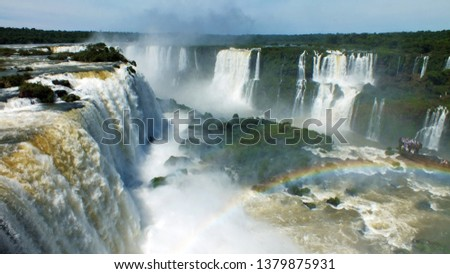 Iguazu Falls, waterfalls of the Iguazu River on the border of the Argentine province of Misiones and the Brazilian state of Paraná #1379875931