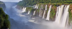 Iguazu waterfalls overview from devils mouth
