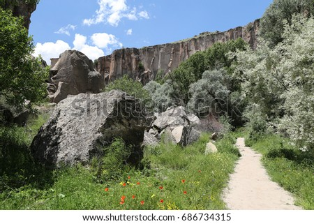 Ihlara Valley in Aksaray City, Cappadocia, Turkey #686734315