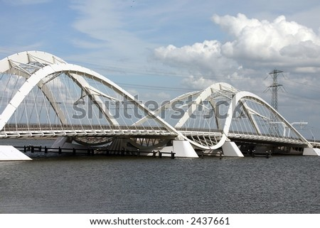 IJ-bridge in Amsterdam Holland