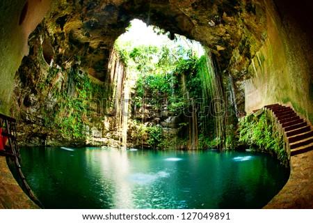 Ik-Kil Cenote Chichen Itza Mexico