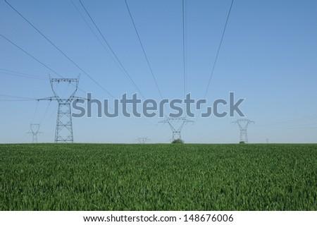 Ile de France, electric line in Marcq