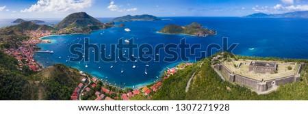 Iles des Saintes. French Guadeloupe. Caribean island. West Indies.