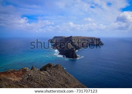 Ilheu da Cal from Porto Santo Island, Portugal  #731707123