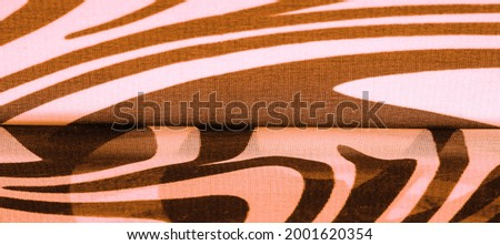 ilk fabric, brown and white abstract lines. The magical shape of an abstract brown and white pattern. Retro modern decor, textile art, design, texture, background, pattern Stok fotoğraf ©
