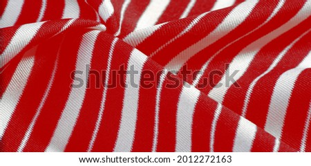 ilk fabric with stripes. red and white stripes. for holiday gift box, postcard banner, present decoration, packaging design Stok fotoğraf ©
