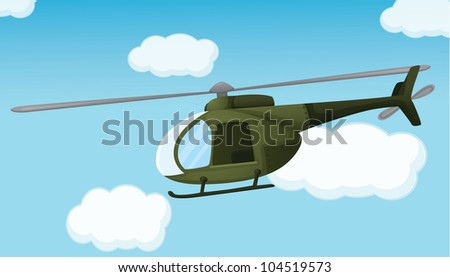 Illlustration of an army helicopter - EPS VECTOR format also available in my portfolio.