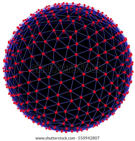 Stock Photo Illuminated neon sphere of glowing particles. 3D illustration