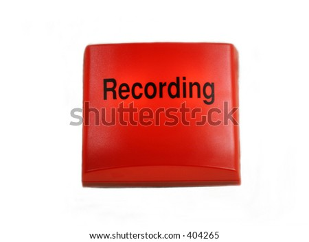 Illuminated Studio Recording sign - isolated