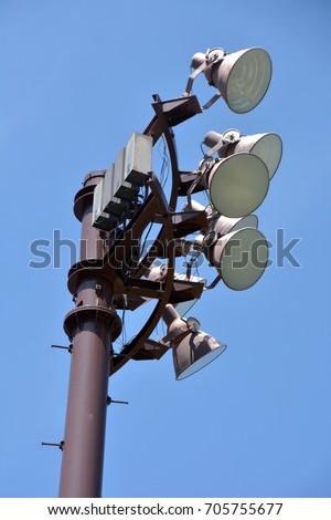 Illumination: Illumination towers for night game #705755677