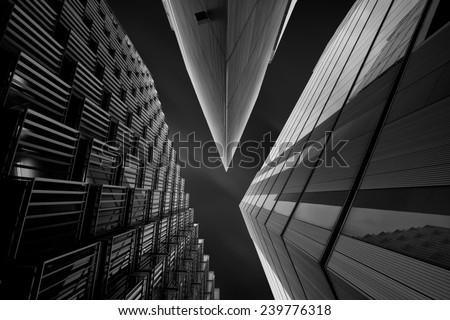 Illumination XXV Cool office buildings in London, UK.
