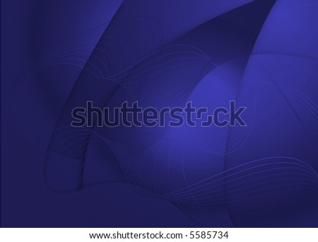 Illustrated abstract background in cold winter colors with wavy lines